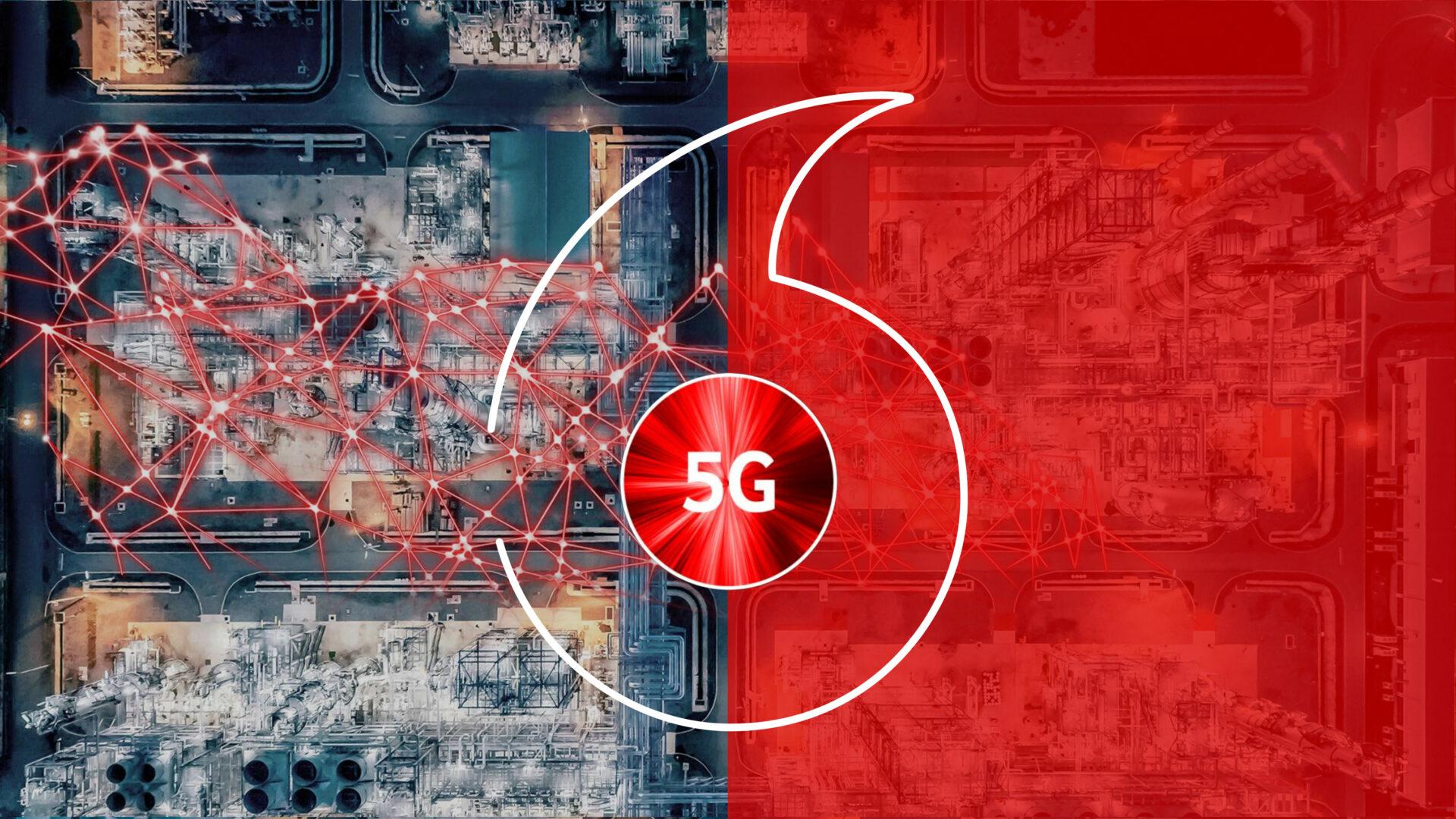 Pokrytí 5G Vodafone