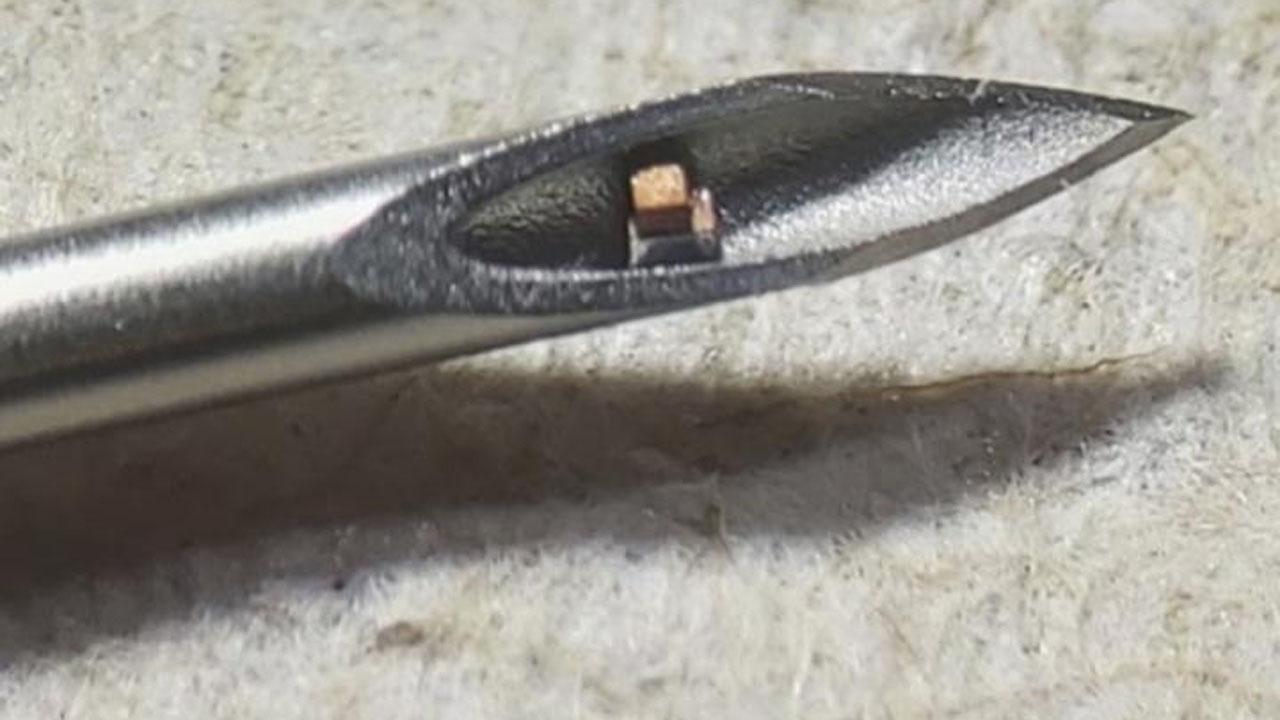 Čip, který lze implantovat jehlou do těla